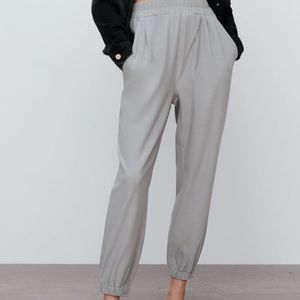 New Zara High waisted pants w/ elastic waistband